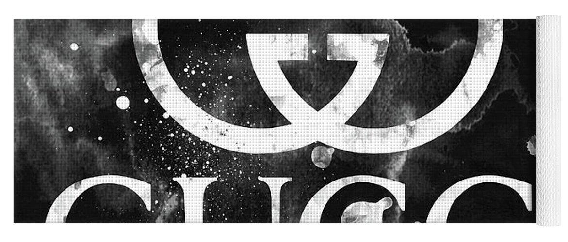 de481937ca Gucci Yoga Mat featuring the digital art Gucci Logo Black 2 by Del Art