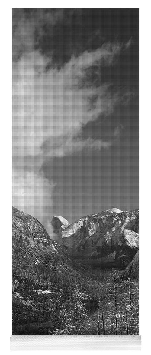 Half Dome Yoga Mat featuring the photograph Half Dome Winter by Travis Day