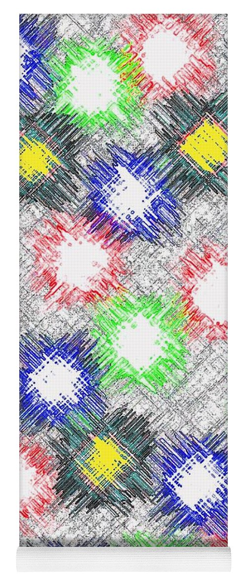 Abstract Yoga Mat featuring the digital art Harmony 32 by Will Borden