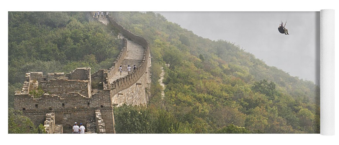 The Yoga Mat featuring the photograph Haunting Great Wall by Betsy Knapp