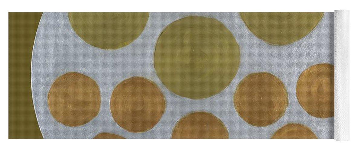 He Tu Yoga Mat featuring the painting He Tu Metal Round by Adamantini Feng shui