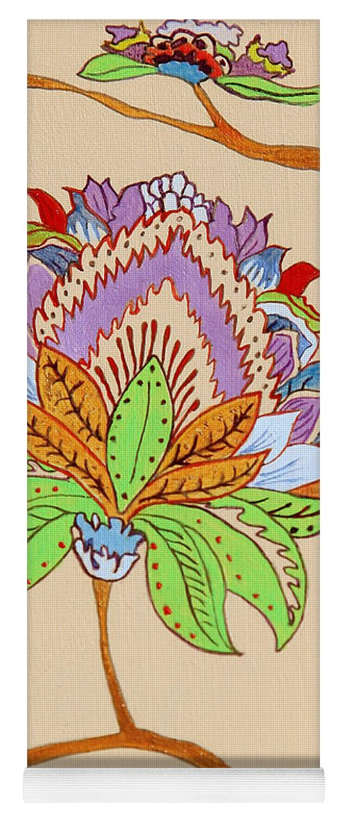 Floral Yoga Mat featuring the painting Heavens Flower by Portraits By NC