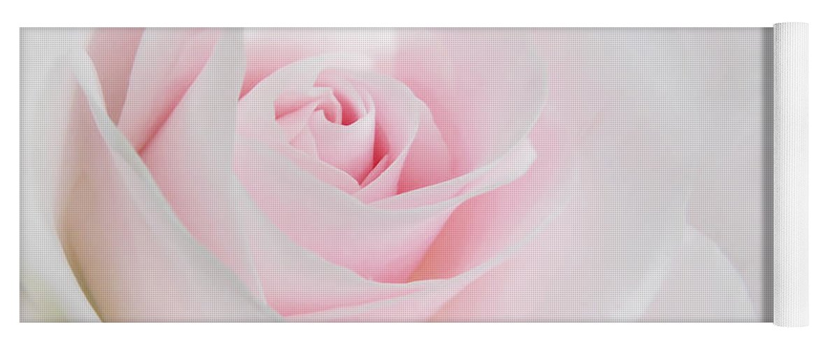 Heaven S Light Pink Rose Flower Yoga Mat For Sale By Jennie Marie Schell