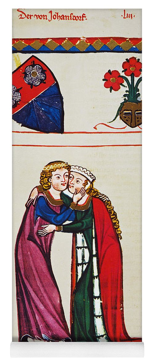 14th Century Yoga Mat featuring the photograph Heidelberg Lieder, 14th C by Granger