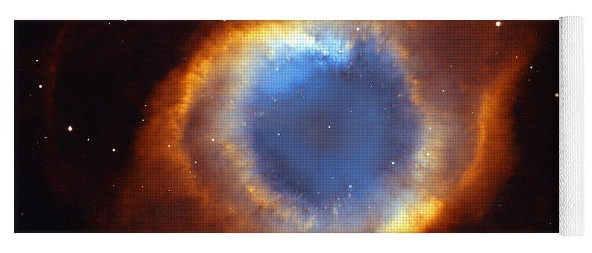 Helix Yoga Mat featuring the photograph Helix Nebula by Ricky Barnard