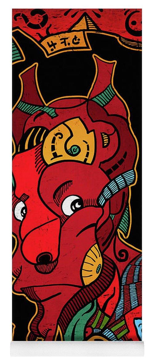 Illustration Yoga Mat featuring the digital art Hell by Sotuland Art