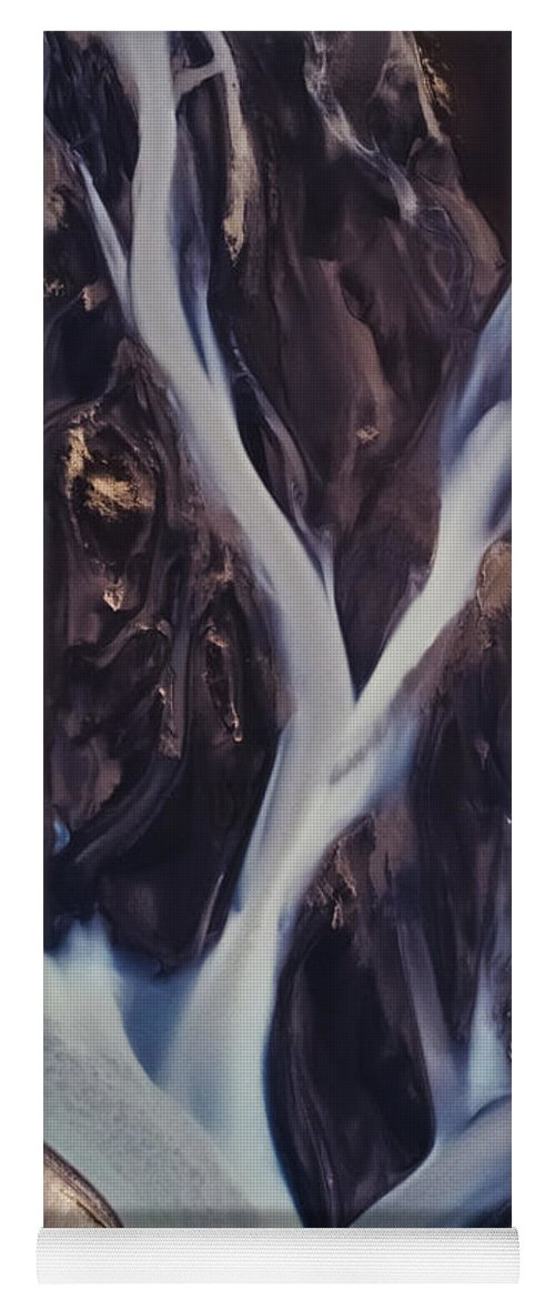 Rivers Yoga Mat featuring the photograph Highland Rivers by Tor-Ivar Naess