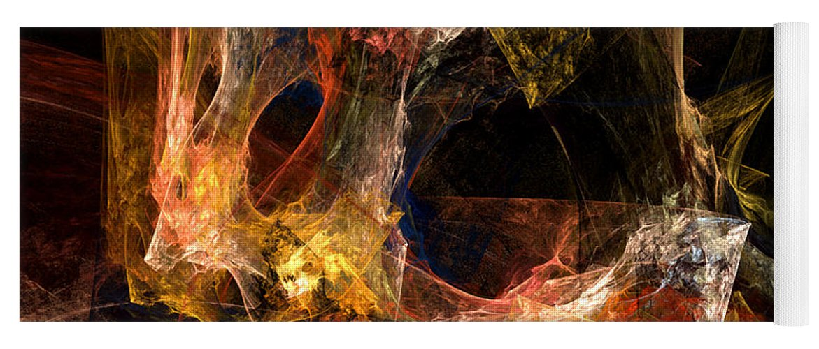 Abstract Yoga Mat featuring the digital art Holes by Ruth Palmer