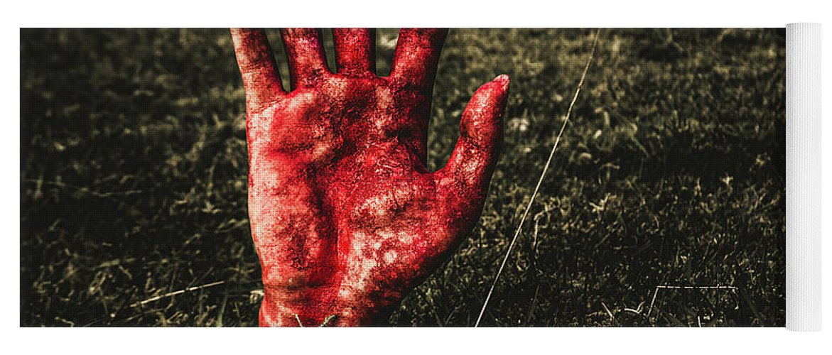 Hand Yoga Mat featuring the photograph Horror Resurrection by Jorgo Photography - Wall Art Gallery