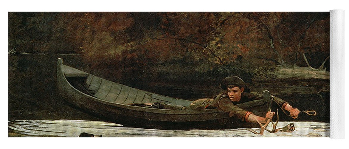 Hound And Hunter Yoga Mat featuring the painting Hound And Hunter by Winslow Homer