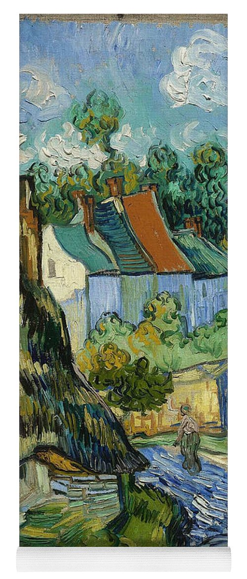 Vincent Van Gogh Yoga Mat featuring the painting Houses In Auvers by Van Gogh