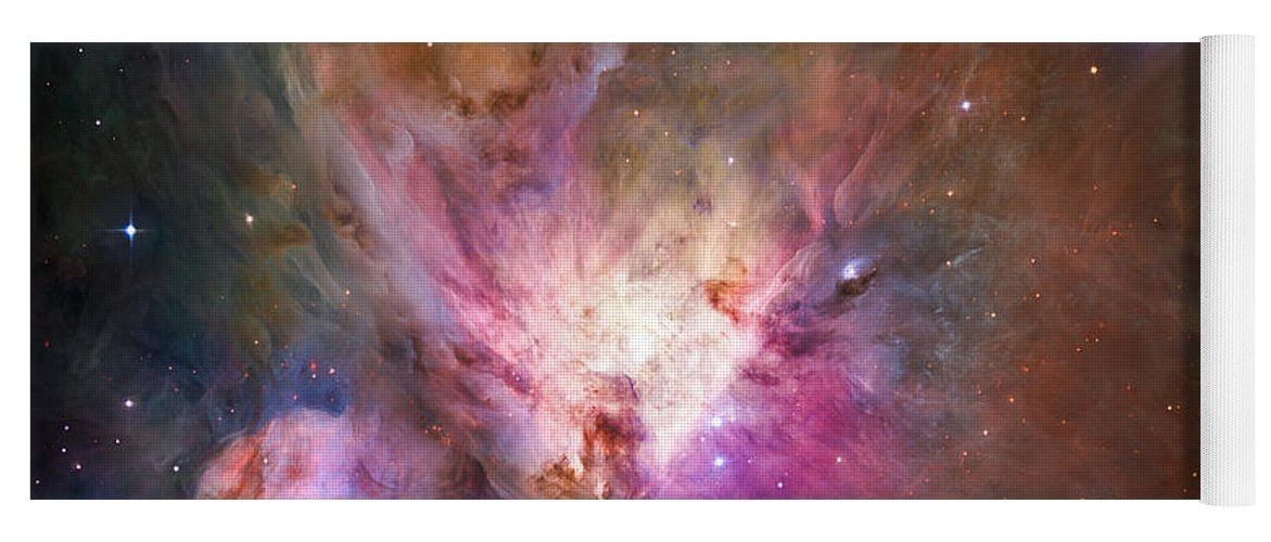 3scape Yoga Mat featuring the photograph Hubble's Sharpest View Of The Orion Nebula by Adam Romanowicz