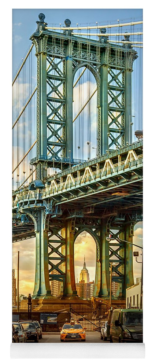New York City Yoga Mat featuring the photograph Iconic Manhattan by Az Jackson