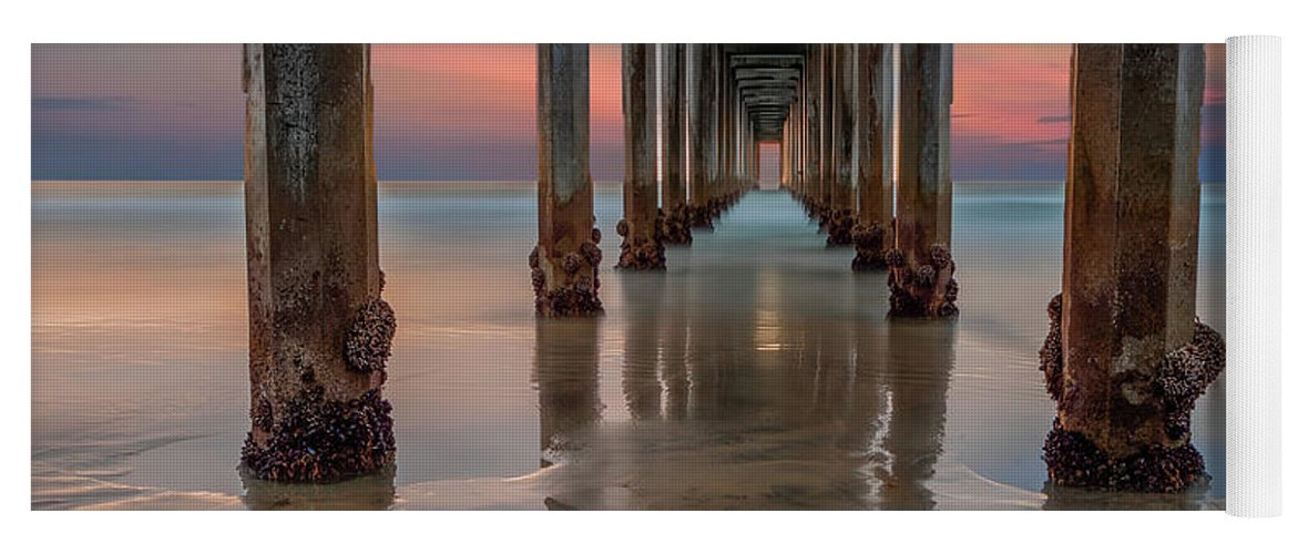 La Jolla Yoga Mat featuring the photograph Iconic Scripps Pier by Larry Marshall