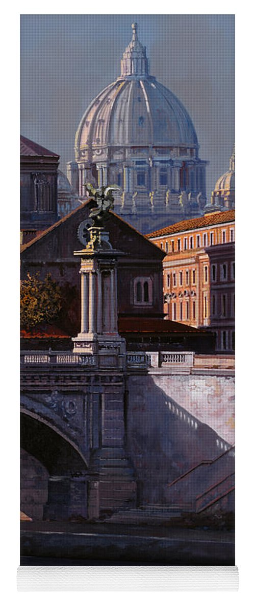 Rome Yoga Mat featuring the painting Il Cupolone by Guido Borelli