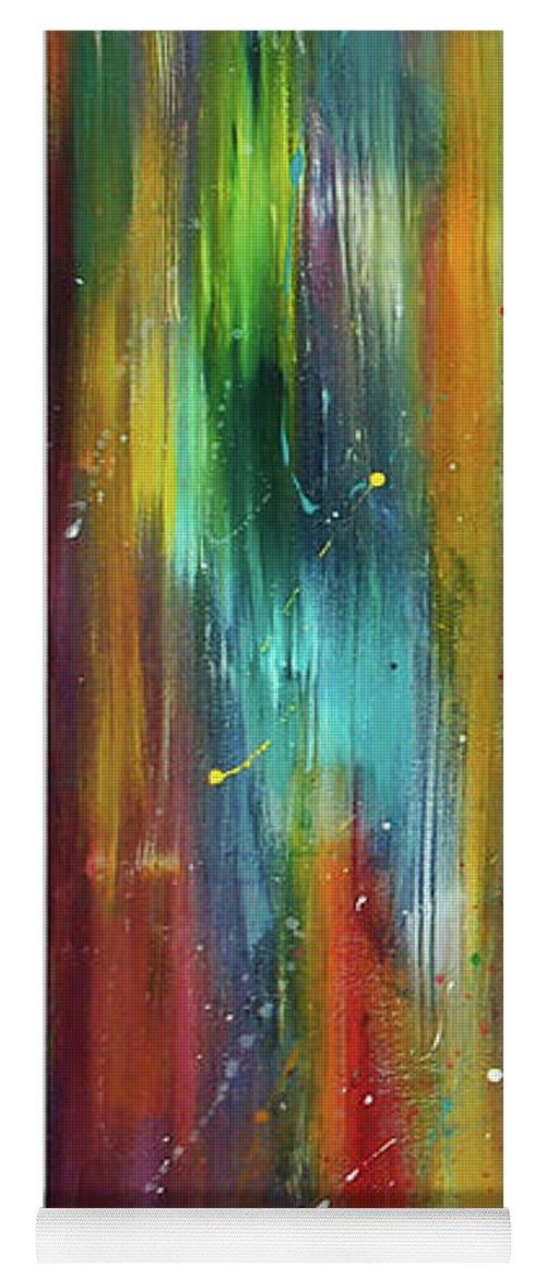 Luminous Yoga Mat featuring the painting Illuminata by Lily Nava