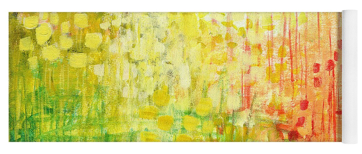 Abstract Yoga Mat featuring the painting Immersed No 2 by Jennifer Lommers