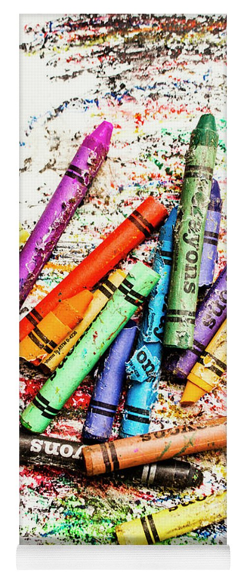 Crayon Yoga Mat featuring the photograph In Colours Of Broken Crayons by Jorgo Photography - Wall Art Gallery