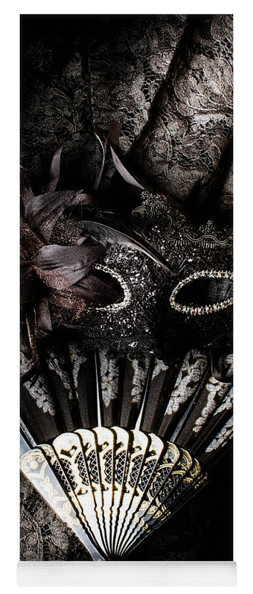 Masquerade Yoga Mat featuring the photograph In Fashion Of Mystery And Elegance by Jorgo Photography - Wall Art Gallery