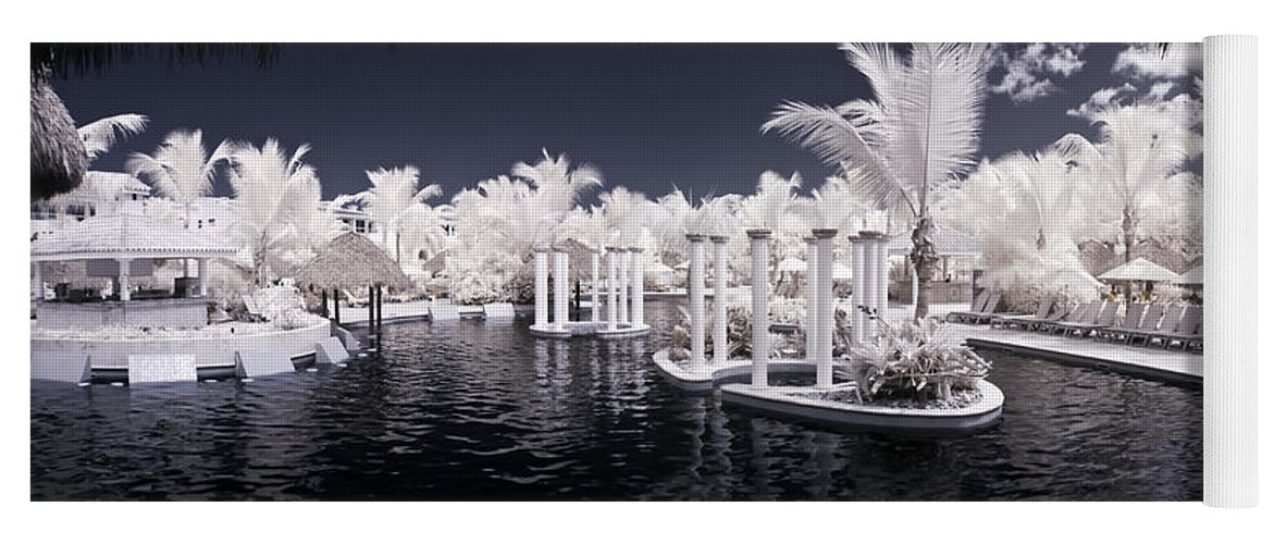 3scape Photos Yoga Mat featuring the photograph Infrared Pool by Adam Romanowicz