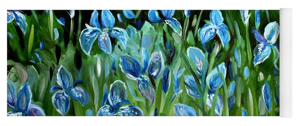 Flowers Yoga Mat featuring the painting Iris Galore by Elizabeth Robinette Tyndall