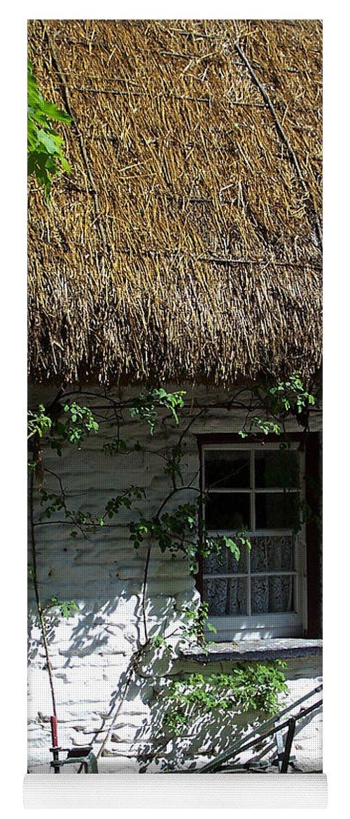 Irish Yoga Mat featuring the photograph Irish Farm Cottage Window County Cork Ireland by Teresa Mucha