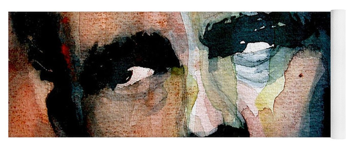 James Dean Yoga Mat featuring the painting James Dean by Paul Lovering