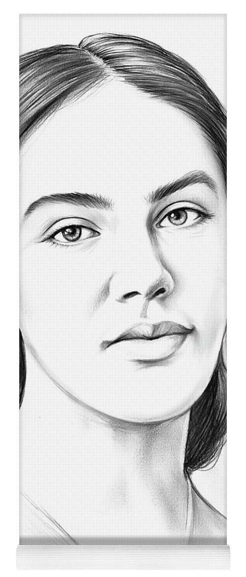 Jessica Findlay Yoga Mat featuring the drawing Jessica Findlay by Greg Joens