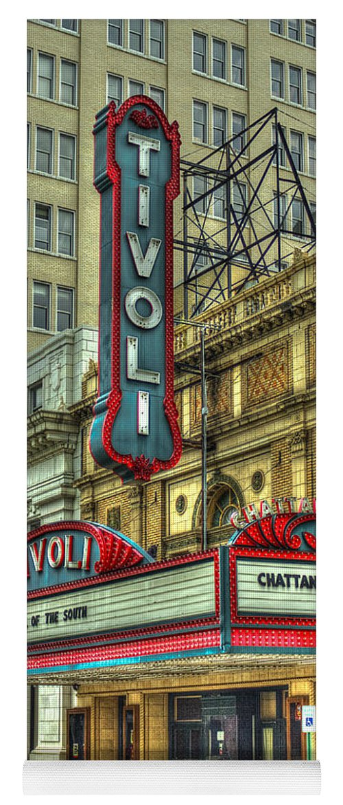 Reid Callaway Tivoli Theater Yoga Mat featuring the photograph Jewel Of The South Tivoli Chattanooga Historic Theater Art by Reid Callaway
