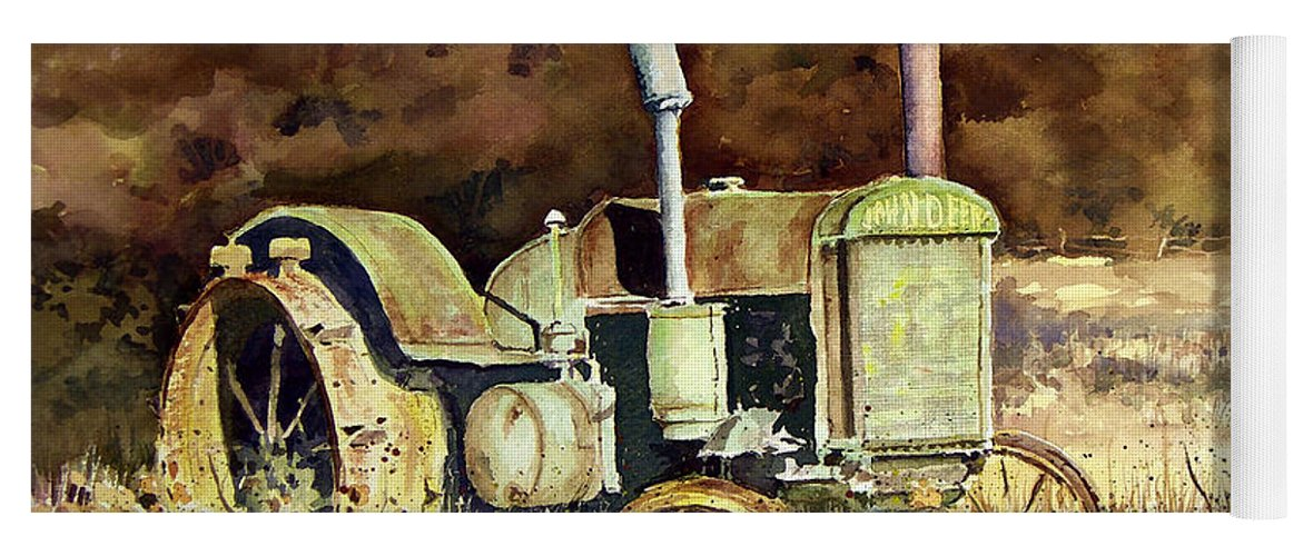 Tractor Yoga Mat featuring the painting Johnny Popper by Sam Sidders