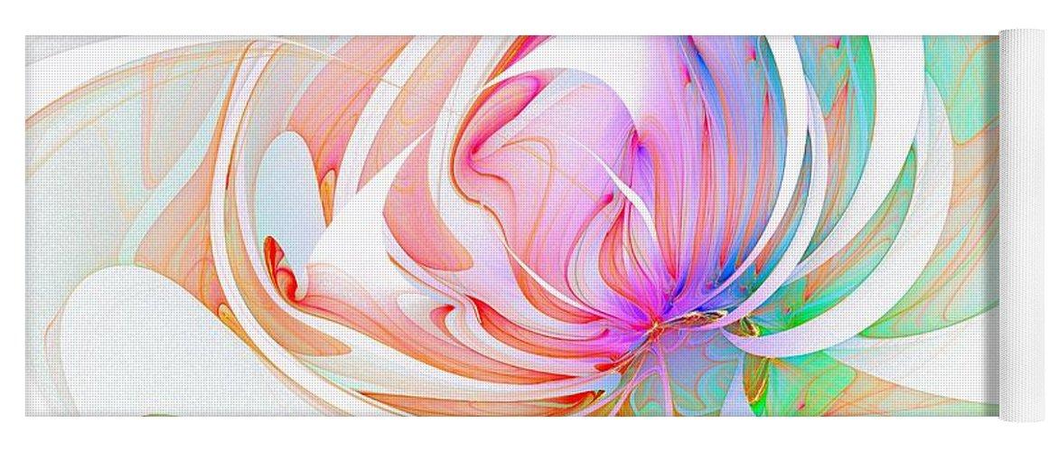 Digital Art Yoga Mat featuring the digital art Joy by Amanda Moore