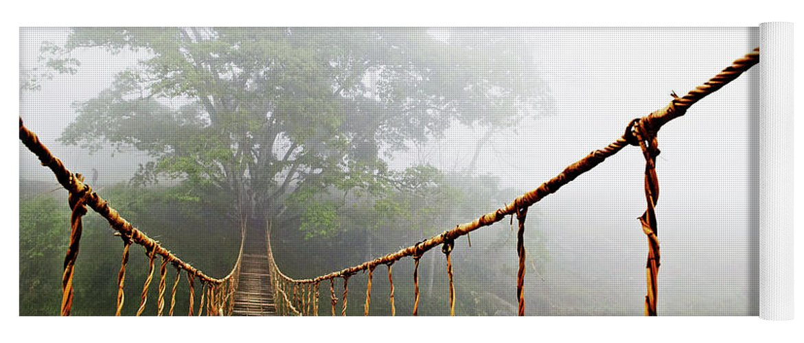 Rope Bridge Yoga Mat featuring the photograph Jungle Journey by Skip Nall