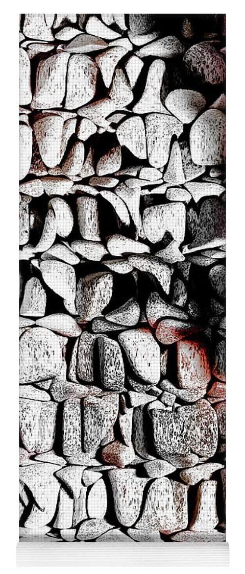 Rock Yoga Mat featuring the photograph Just a Box of Rocks by Michelle Miller