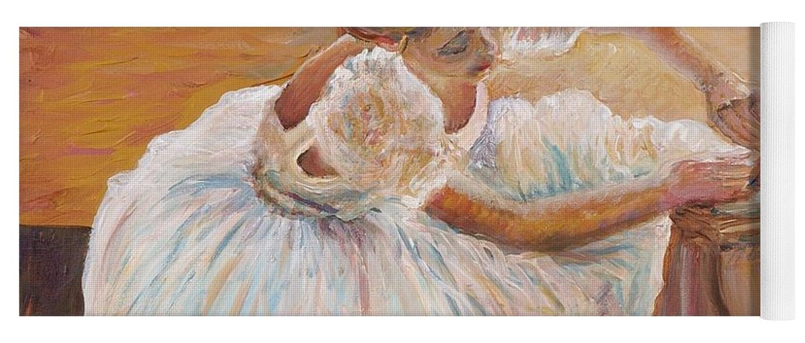Dancer Yoga Mat featuring the painting Kaylea by Nadine Rippelmeyer