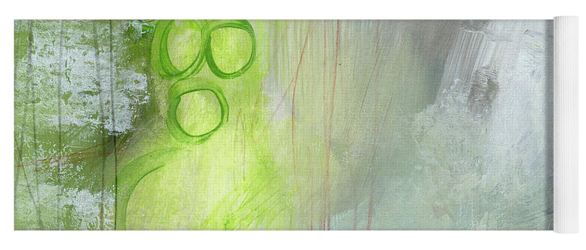 Abstract Yoga Mat featuring the painting Kensho- Abstract Art by Linda Woods by Linda Woods