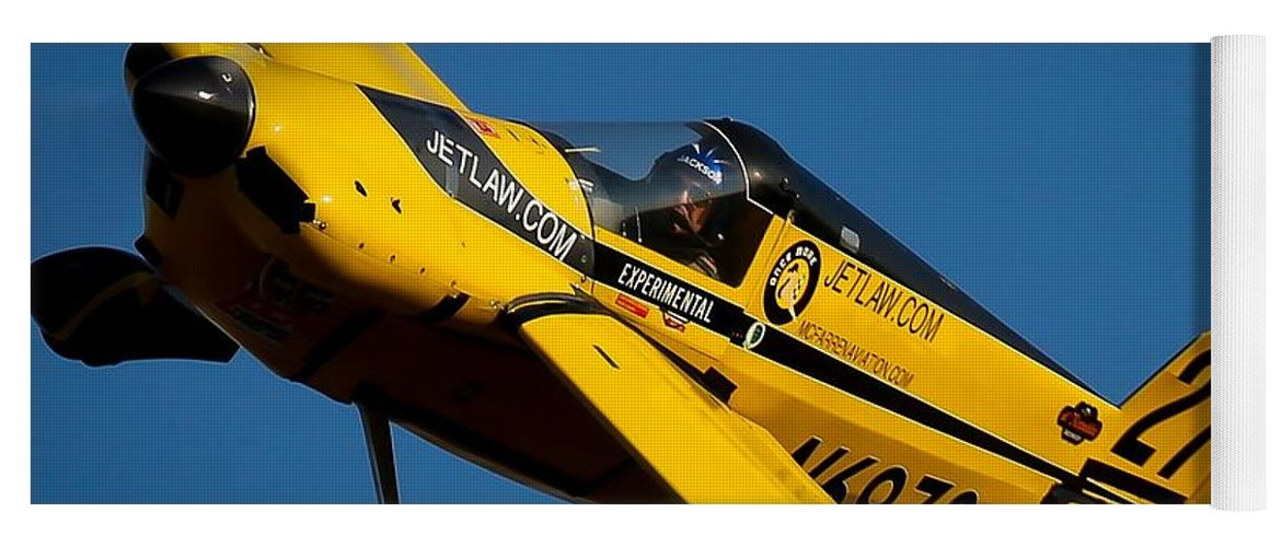 #kentjackson #oncemore #renoairraces #rara Yoga Mat featuring the photograph Kent Jackson In Once More, Friday Morning. 16x9 Aspect Signature Edition by John King