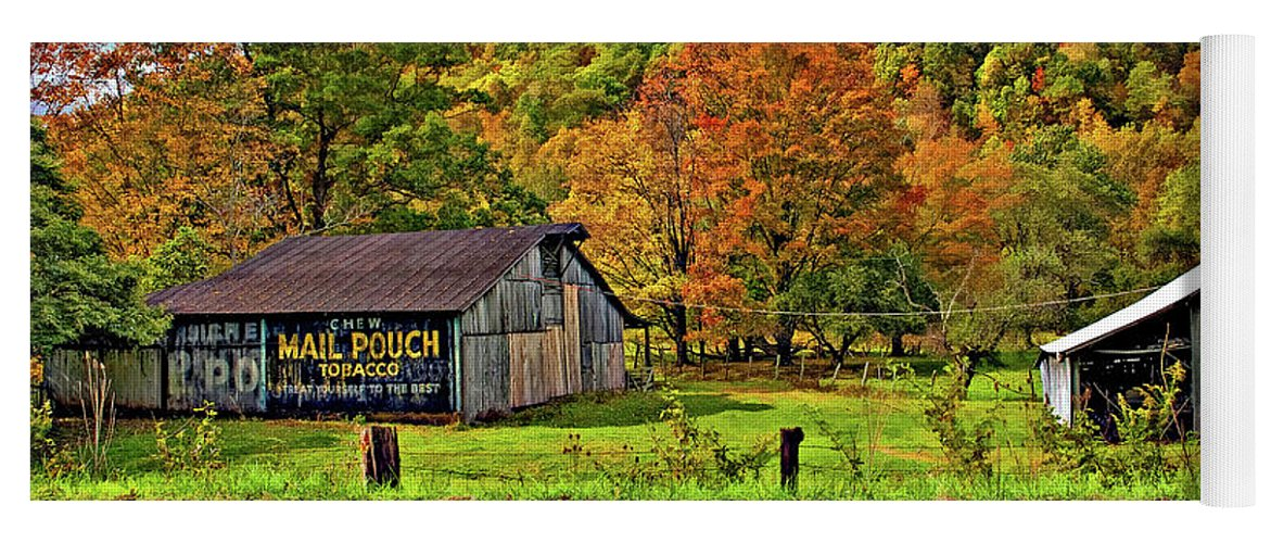 West Virginia Yoga Mat featuring the photograph Kindred Barns by Steve Harrington