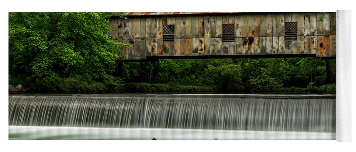 Thomas Gartner Yoga Mat featuring the photograph Kymulga Covered Bridge 1864 by Thomas Gartner