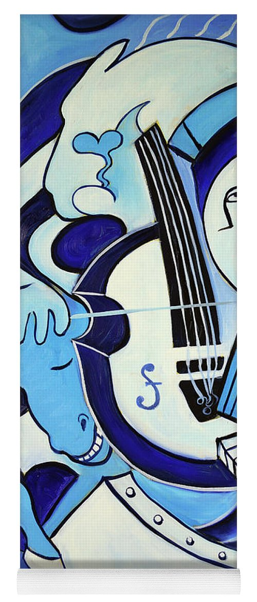 Abstract Yoga Mat featuring the painting L amour ou quoi 2 by Valerie Vescovi