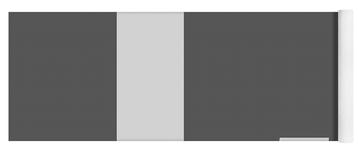 L Yoga Mat featuring the digital art L In Light Gray Typewriter Style by Custom Home Fashions