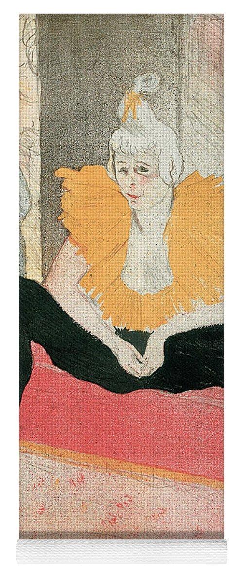 Henri De Toulouse-lautrec Yoga Mat featuring the drawing La Clownesse Assise by Henri de Toulouse-Lautrec