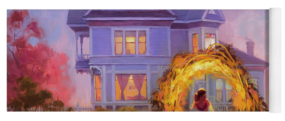 Woman Yoga Mat featuring the painting Lady In Waiting by Steve Henderson