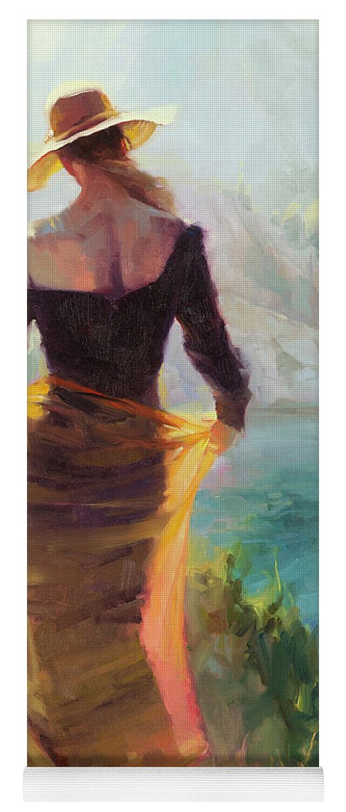 Woman Yoga Mat featuring the painting Lady of the Lake by Steve Henderson