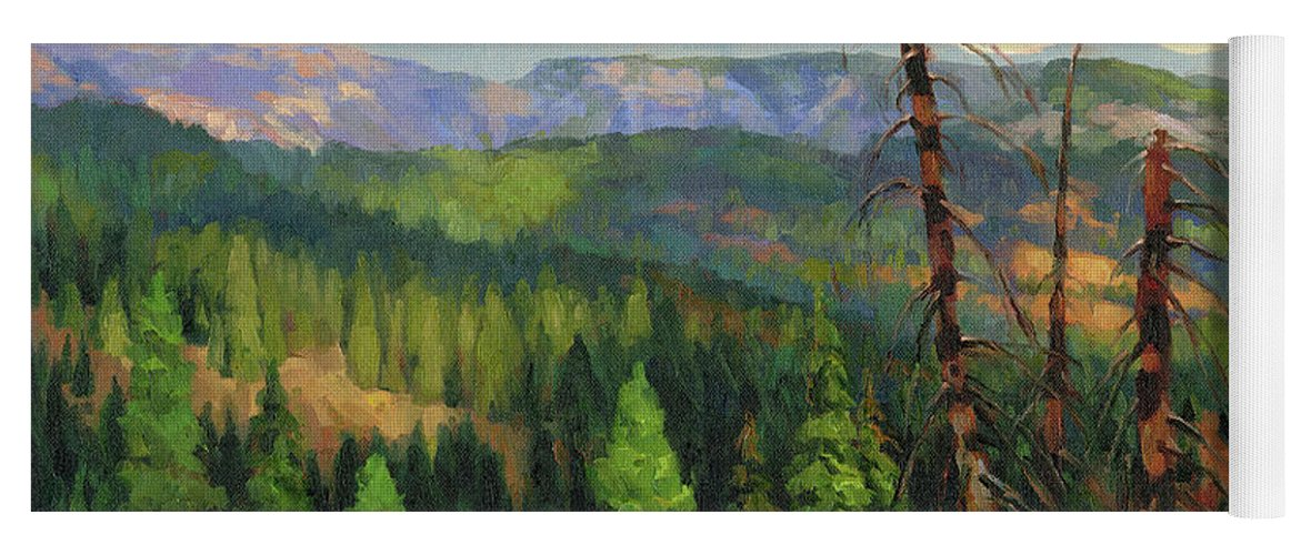 Wilderness Yoga Mat featuring the painting Ladycamp by Steve Henderson