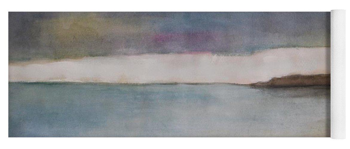 Ocean Yoga Mat featuring the painting Lagoon Bleu by Vesna Antic