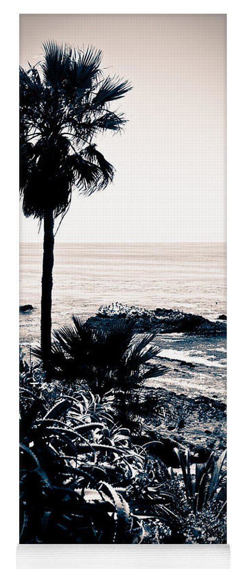 America Yoga Mat featuring the photograph Laguna Beach California Black And White by Paul Velgos