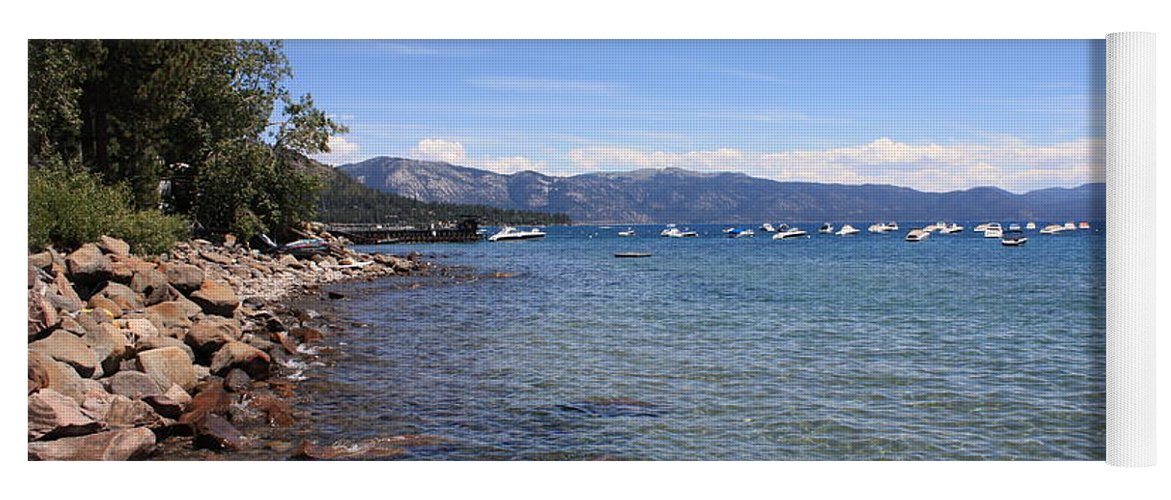 Lake Tahoe Yoga Mat featuring the photograph Lake Tahoe Waterscape by Carol Groenen
