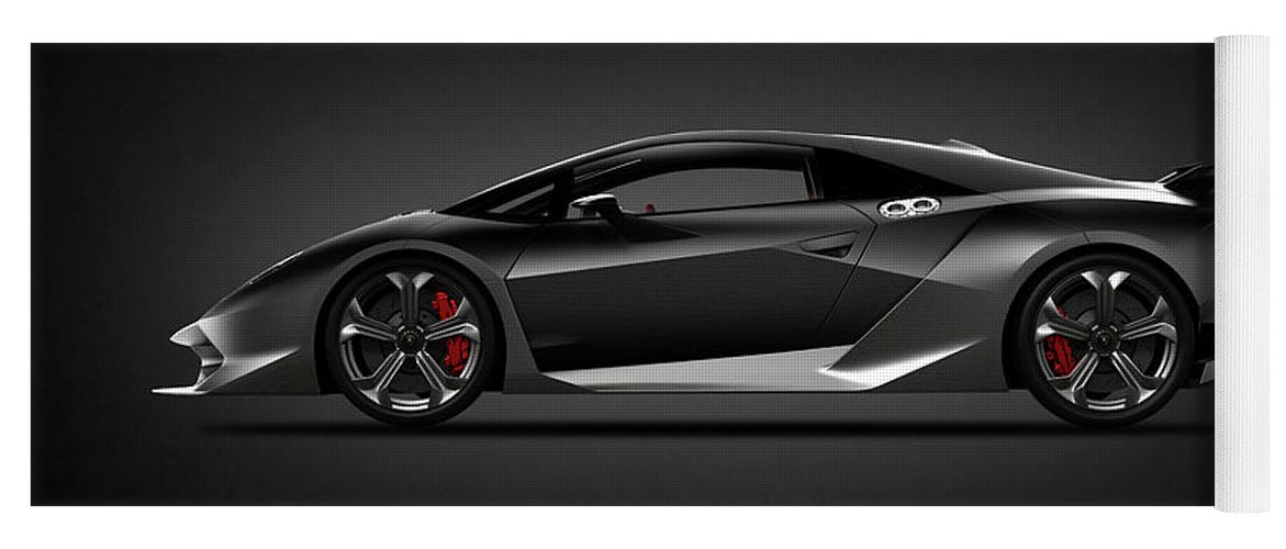 Lamborghini Sesto Elemento Yoga Mat For Sale By Mark Rogan