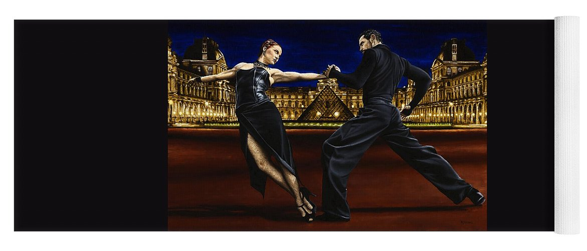 Tango Yoga Mat featuring the painting Last Tango in Paris by Richard Young