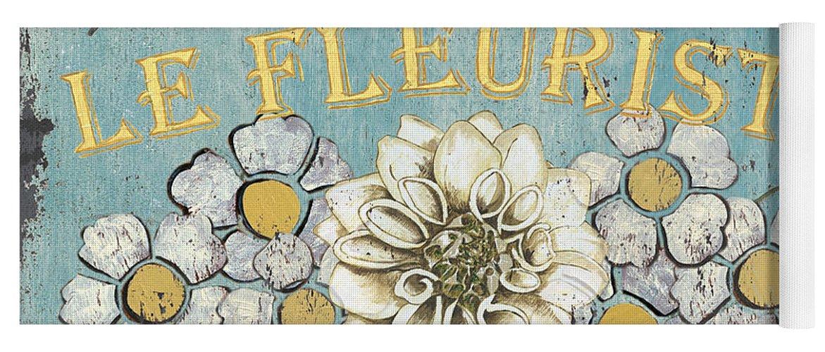 Flowers Yoga Mat featuring the painting Le Fleuriste de Botanique by Debbie DeWitt